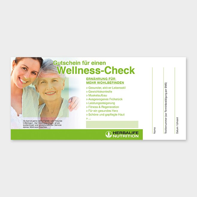 Wellness-Check Gutschein Herbalife Motiv 5