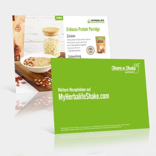 Rezeptkarten Erdnuss-Protein Porridge - 25 Stück