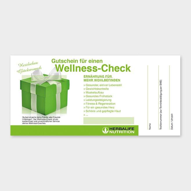 Wellness-Check Gutschein Herbalife Motiv 3