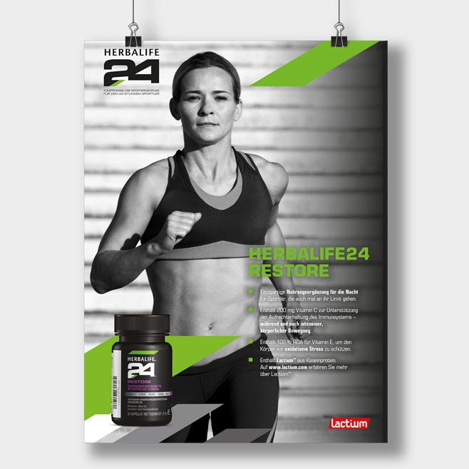 10 Herbalife24 Plakate DIN A1 Pack Plakatmischung